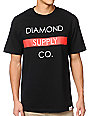 Diamond Supply Co Bar Logo Black & Red T-Shirt