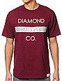Diamond Supply Co Bar Logo Maroon & Grey T-Shirt