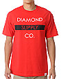 Diamond Supply Co Bar Logo Red T-Shirt