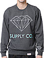 Diamond Supply Co Charcoal Crew Neck Sweatshirt