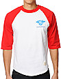 Diamond Supply Co Creators Raglan Red & White Baseball T-Shirt