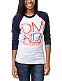 Diamond Supply Co DMND White & Navy Baseball Tee