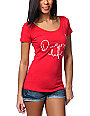 Diamond Supply Co Diamond Life Red Scoop Neck T-Shirt