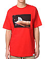 Diamond Supply Co Imprint Red T-Shirt