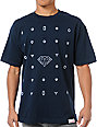 Diamond Supply Co Many Diamonds Navy Blue T-Shirt