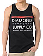 Diamond Supply Co Roots Black Tank Top
