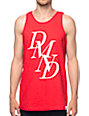 Diamond Supply Co Serif Red Tank Top