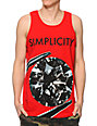 Diamond Supply Co Simplicity Red Tank Top