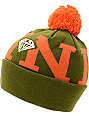 Diamond Supply Co Snow Pom Olive & Orange Beanie