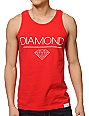 Diamond Supply Co White Space DMND Red Tank Top