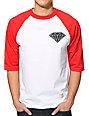 Diamond Supply Co. Big Brilliant Red & White Baseball T-Shirt