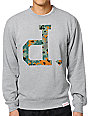 Diamond Supply Co. Camo Unpolo Heather Grey Crew Neck Sweatshirt