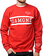 Diamond Supply Collegiate Red Crew Neck Sweatshirt