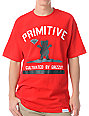 Diamond x Grizzly x Primitive Cultivated Red T-Shirt