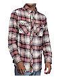 Dravus Donny Burgundy, Khaki & Natural Flannel Shirt