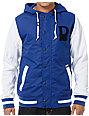 Dravus Pennant Blue & White Varsity Jacket