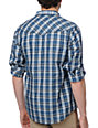 Dravus Retreat Blue Plaid Long Sleeve Woven Shirt