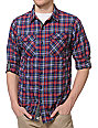 Dravus Thruxton Navy Plaid Long Sleeve Woven Shirt