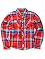 Element Boys Franklin Red Plaid Flannel Shirt