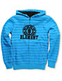 Element Boys Russel Blue Stripe Sherpa Zip Up Hoodie
