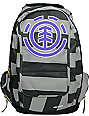 Element Girls Gamine Black & Grey Stripe Backpack