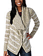 Element Lariat Natural Knit Cardigan Sweater