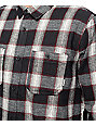 Element Medford Black & Red Long Sleeve Flannel Shirt