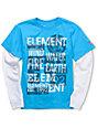 Element Shock Cy 2Fer Boys Turquoise Long Sleeve T-Shirt