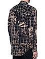 Elwood Patchwork Black & Bleach Flannel Shirt