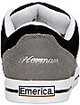Emerica G-Code!!! Grey, Black & White Shoes