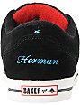 Emerica x Baker Herman G Code Black Suede Skate Shoes