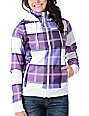 Empyre Alpine Purple Plaid Sherpa Tech Fleece Jacket