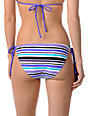 Empyre Annex Teal Striped Side Tie Bikini Bottom