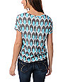 Empyre Aqua & White Hatfield Honey Comb Print T-Shirt
