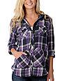 Empyre Arroyo Purple Hooded Flannel Shirt