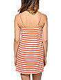 Empyre Aubree Coral Confetti Stripe Dress