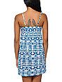 Empyre Aubree Lyons Blue Tribal Print Dress