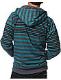 Empyre Baker Black & Teal Stripe Sherpa Fleece Hoodie