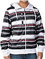 Empyre Banshee White & Black Stripe Sherpa Tech Fleece Jacket