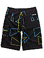 Empyre Beacon Black 4-Way Stretch Boys Board Shorts