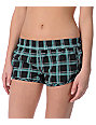 Empyre Black Plaid Kewalos Board Shorts