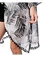 Empyre Blaine Black & Grey Palm Print Kimono