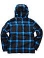 Empyre Boys Foothold Black Plaid Snowboard Jacket