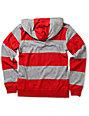 Empyre Boys Titan Red & Grey Long Sleeve Hooded Knit Shirt