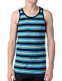 Empyre Caboose Teal & Black Stripe Tank Top