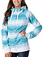 Empyre Canyon Teal Stripe Zip Tech Fleece Jacket