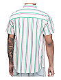 Empyre Carnival Off White Vertical Striped Woven Shirt