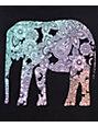 Empyre Casey Black & Rainbow Elephant Tank Top