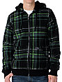Empyre Caveat Black Plaid Sherpa Fleece Hoodie