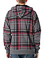 Empyre Caveat Charcoal Plaid Sherpa Fleece Hoodie
